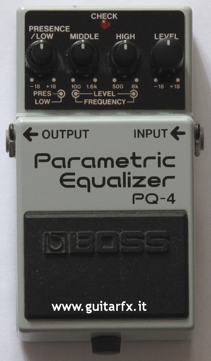 boss pq 4 parametric equalizer guitar effects. Black Bedroom Furniture Sets. Home Design Ideas